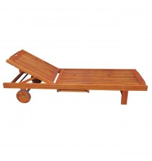 C-53913 Chaise Sun Lounger | Oil Dipped