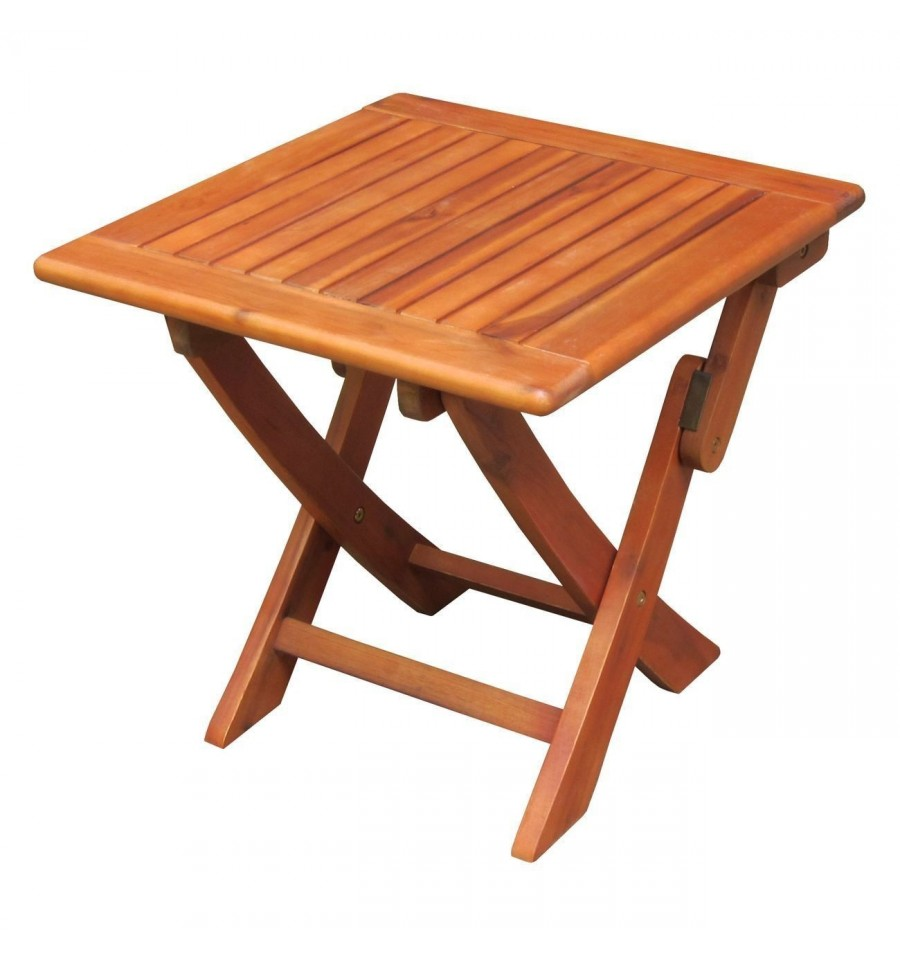 ot53938 outdoor side table square folding oil dipped