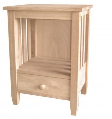 BJ6TD Mission End Table with Drawer