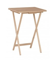 TT01-1 Folding Tray Table | Natural Finish
