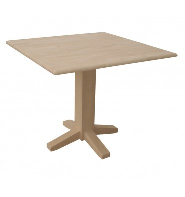 [36 Inch] Dropleaf Dining Table With Square Pedestal
