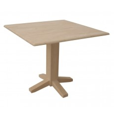 T-36SDP Dropleaf Table With Square Pedestal