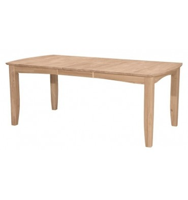 [78 Inch] Bow End Butterfly Extension Dining Table