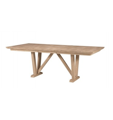 [84 Inch] Athena Dining Table with Self Storing Leaf