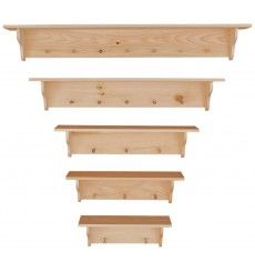 Knotty Pine Peg Shelves