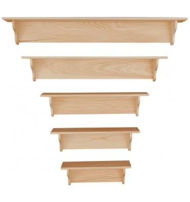 Knotty Pine Plain Shelf - Options