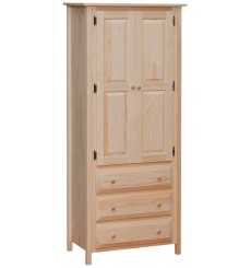 Linen Cabinet with 3 Drawers