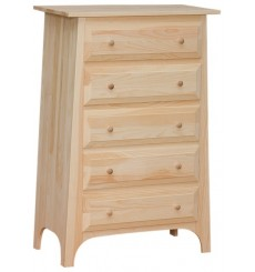 Slant 5 Drawer Chest