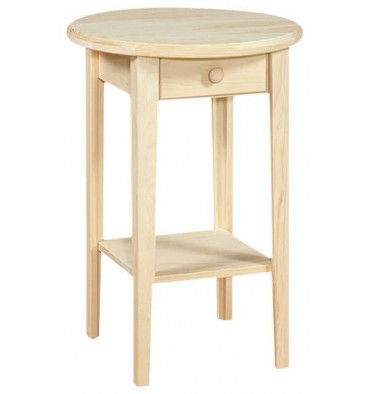 Round Table - 1 Drawer
