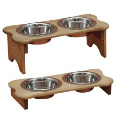 Tall Dog Bone Feeder - Oil Stain