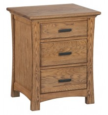1203 Prairie City 3 Drawer Nightstand
