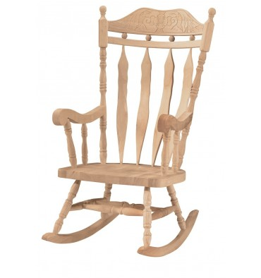 3175 Carved Back Rocker