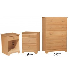 [21 Inch] Palmer 3 Drawer Nightstand