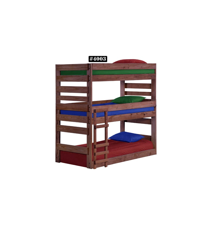 Twin Stackable Triple Bunk Bed Wood n Things Furniture
