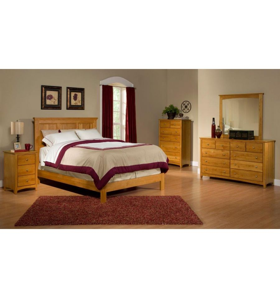 alder raised panel beds - wood'n things furniture | gretna, la