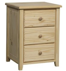 [21 Inch] Bay Harbor 3 Drawer Nightstand