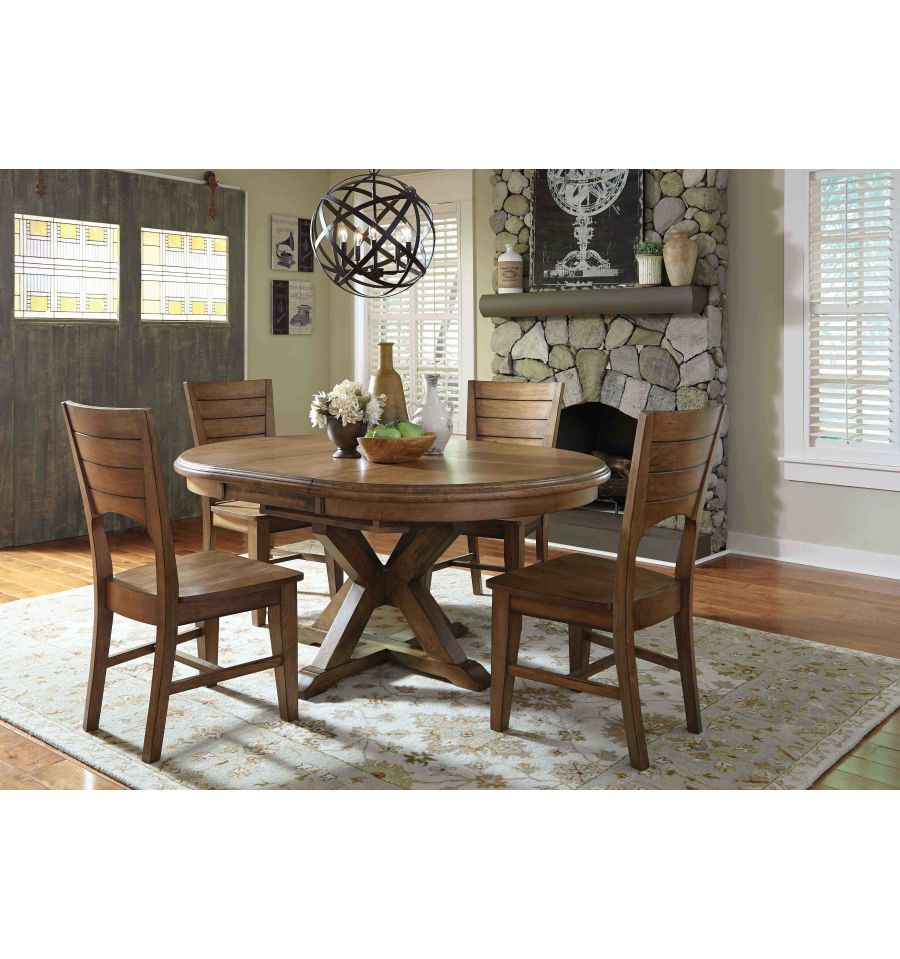 66 Inch Canyon Pedestal Table