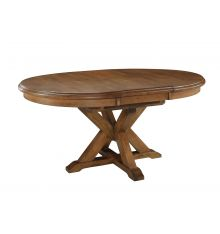 [66 Inch] Canyon Pedestal Table - Pecan