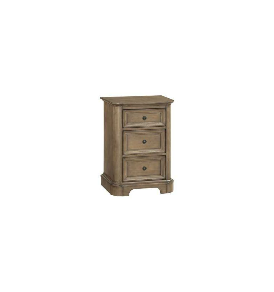 21 Inch Stonewood 3 Drawer Nightstand Wood 39 N Things