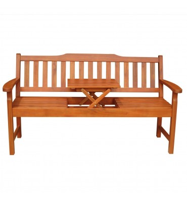 BE-53968 3-Seater Bench | Tray | Oil Dipped