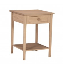[21 Inch] Hampton Bedside Table with Drawer