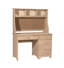 [45 Inch] Jamestown 4 Drawer Desk and Corkboard Hutch
