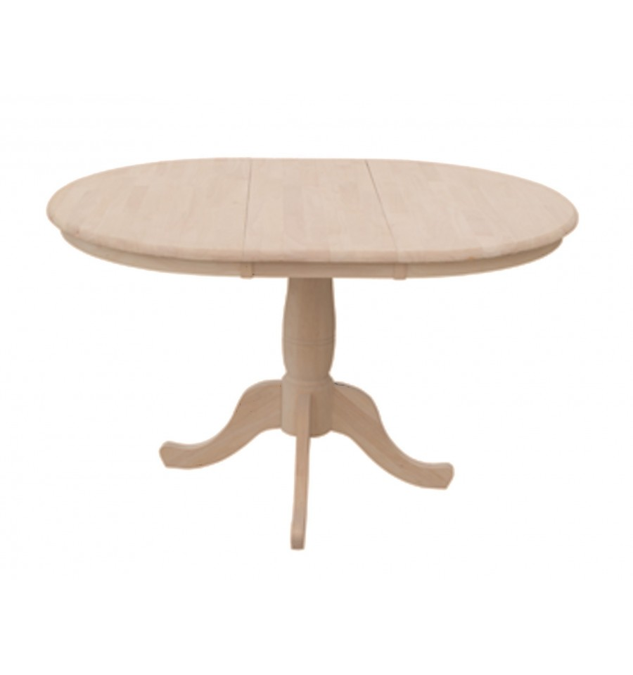 48 Inch Round Extension Dining Table With Traditional