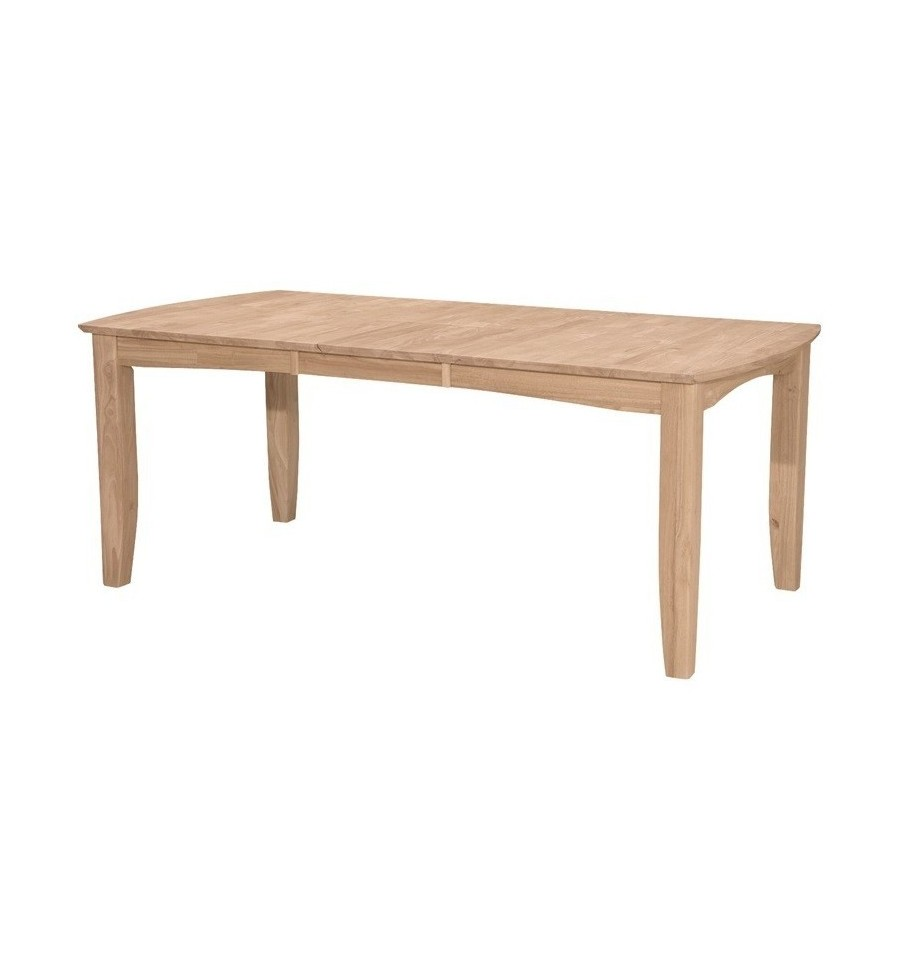 78 Inch Bow End Butterfly Extension Dining Table - Wood ...