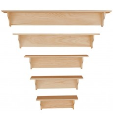Knotty Pine Plain Shelves
