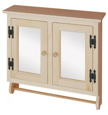 [25 Inch] 2 Door Wall Cabinet with Mirror