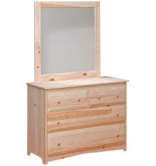 Primitive 4 Drawer Dresser and Mirror