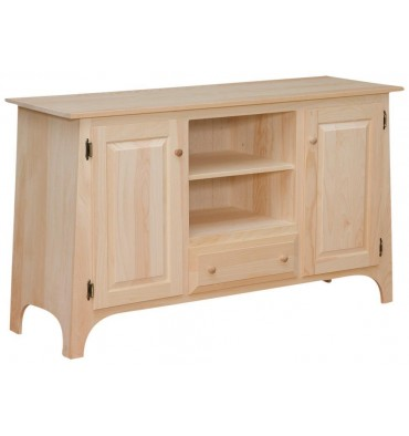 Slant TV Console - Drawer - Options