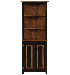 Primitive Corner Hutch with Doors