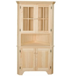 [40 Inch] XL Corner Hutch (unfinished)