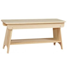 Bench with Shelf - Options