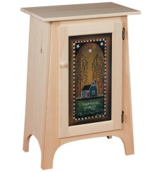 Hall Cabinet with Printed Panel
