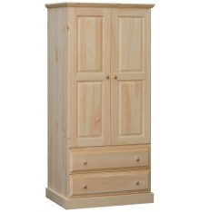 [43 Inch] Franklin 2 Door 2 Drawer Wardrobe
