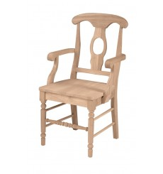Empire Arm Chair (wood seat, unfinished)
