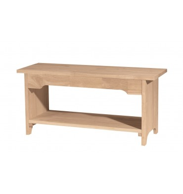 [36 Inch] Brookstone Bench (unfinished)
