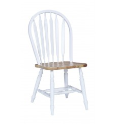 Arrowback Windsor Chair (White & Natural)