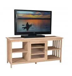 [56 Inch] Mission Entertainment Stand (unfinished)