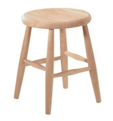 Scoop Seat Dining Stool (unfinished)