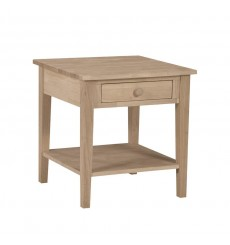 [24 Inch] Spencer End Table (unfinished)