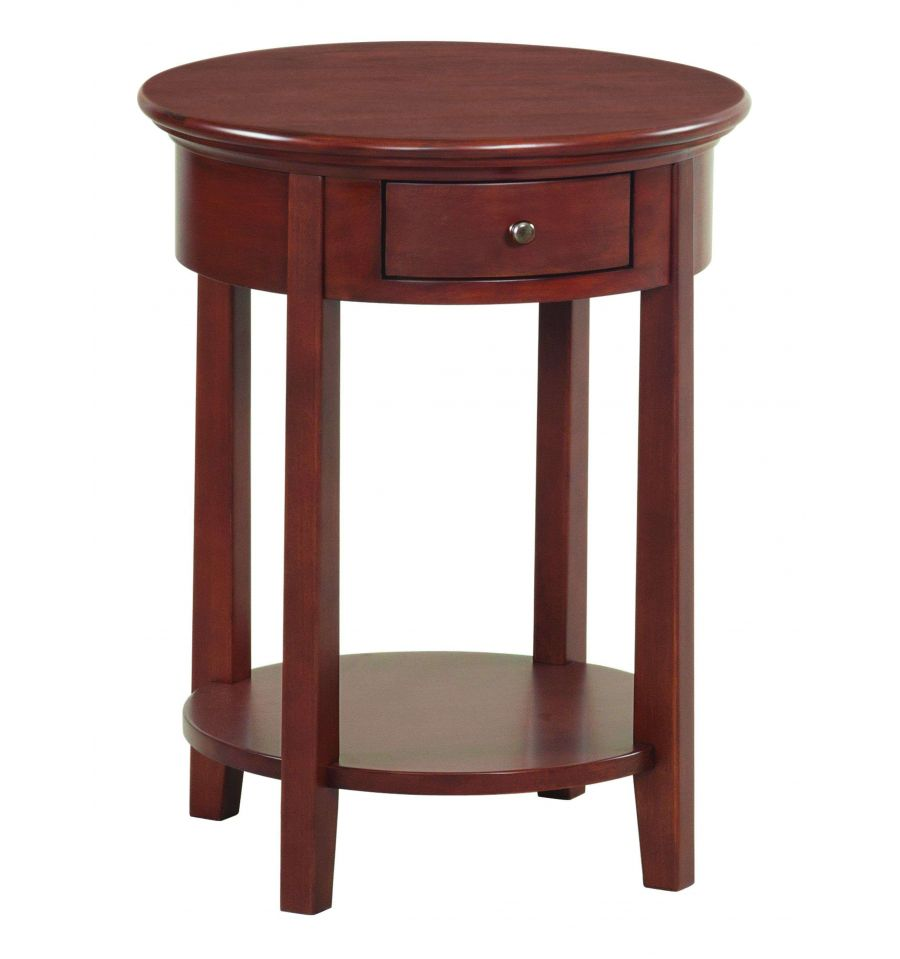 20 Inch Mckenzie Round Side Tables Wood N Things