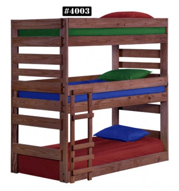Twin Stackable Triple Bunk Bed Wood N Things Furniture Gretna La