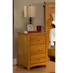 [19 Inch] Alder Shaker 3 Drawer Nightstand