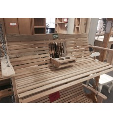 5 foot Cypress Porch Swing w/console