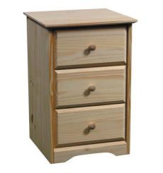 [17 Inch] AFC Shaker 3 Drawer Nightstand