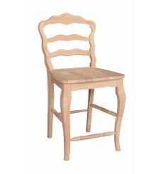 Versailles Ladderback Counter Stool (unfinished)