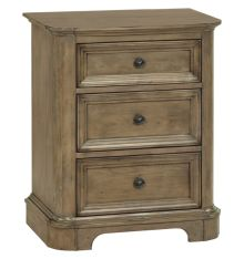 [25 Inch] Stonewood 3 Drawer Nightstand